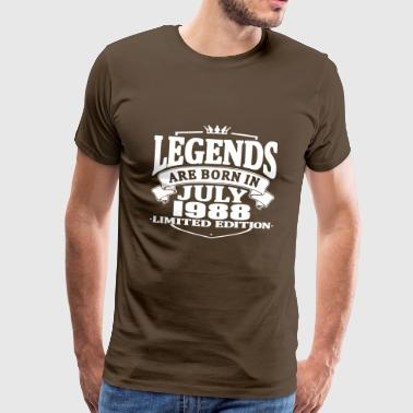 Born In 1988 Legends are born in july 1988 - Men's Premium T-Shirt