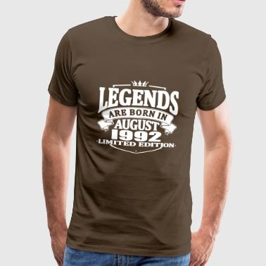 Legends are born in august 1992 - Men's Premium T-Shirt