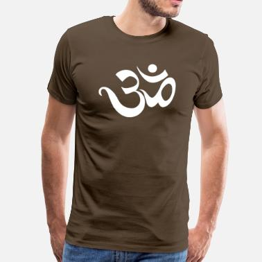 India Yoga Om Sanskrit Yoga India - Men's Premium T-Shirt