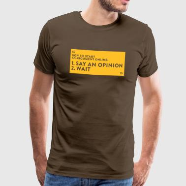 Debates In Internet - Men's Premium T-Shirt