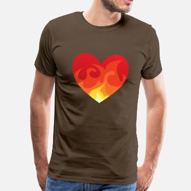 Heart With Fire Heart with fire eu - Men's Premium T-Shirt