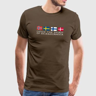 SPIRIT OF SCANDINAVIA white-lettered - Männer Premium T-Shirt