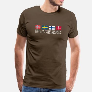 Schweden SPIRIT OF SCANDINAVIA white-lettered - Männer Premium T-Shirt