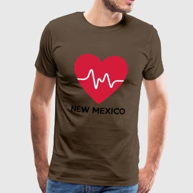 Heart New Mexico - Herre premium T-shirt