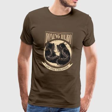Boxing Hero - The Greatest - On Dark - T-shirt Premium Homme