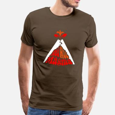 Magma Red Hot Magma w/ eruption - Men's Premium T-Shirt