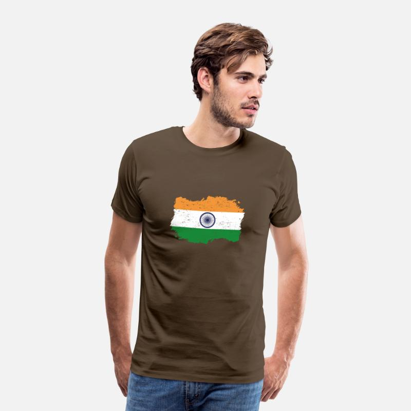 Love T-Shirts - Roots roots flag homeland country india png - Men's Premium T-Shirt noble brown