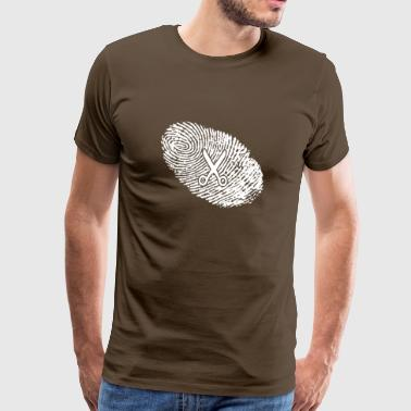fingerprint dna dns gift hairdresser - Men's Premium T-Shirt
