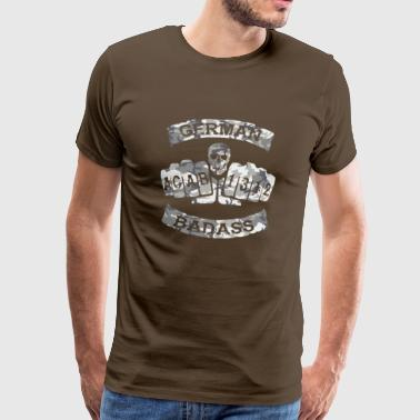 German Badass Fussball Tattoo army 2 - Männer Premium T-Shirt