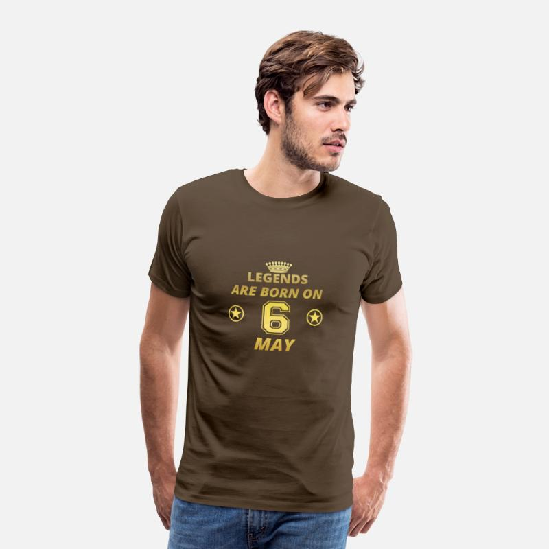 Birthday T-Shirts - legends born birthday MAY 6 - Men's Premium T-Shirt noble brown