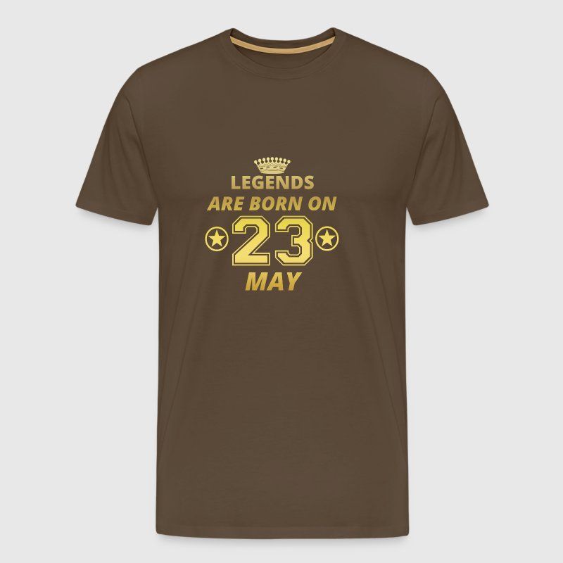 legends born birthday MAY 23 - Men's Premium T-Shirt