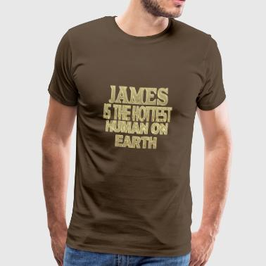 James - Herre premium T-shirt