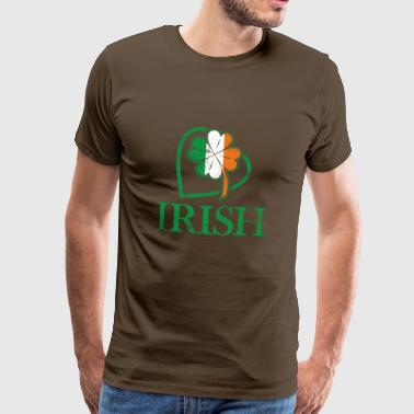 I love Ireland and Irish signs and colors - Men's Premium T-Shirt