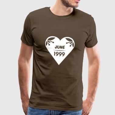 June 1999 heart - Men's Premium T-Shirt