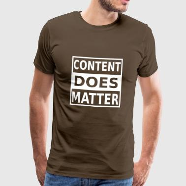 Content Marketing Internet Online Data digital w - Herre premium T-shirt
