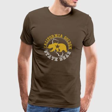 Californie Golden State Ours - T-shirt Premium Homme
