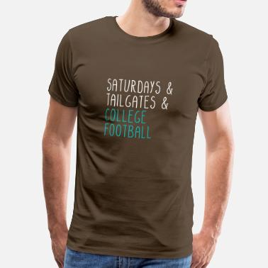 College Football Lördagar bakluckor College Football - Premium-T-shirt herr