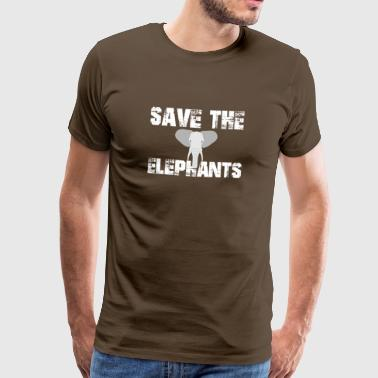 Save the elephant animal welfare species protection environment - Men's Premium T-Shirt
