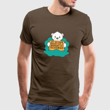 Polar Bear Protest voor Science Climate Change Gift - Mannen Premium T-shirt