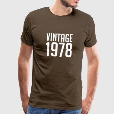 Vintage 1978 40th Birthday | 40 Years Years Old 40 - Mannen Premium T-shirt