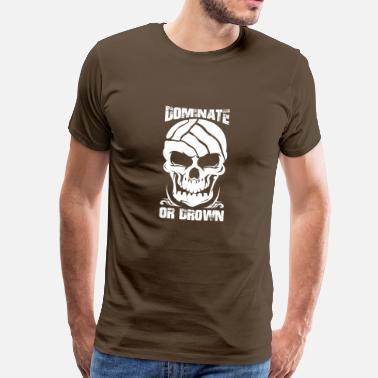 Dominant Wife Water Polo Waterpolo Dominate or Drown Skull - Men's Premium T-Shirt
