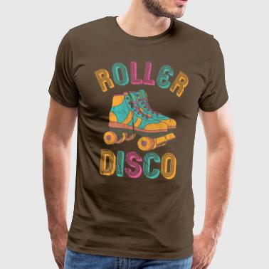 Roller Disco distressed - Männer Premium T-Shirt