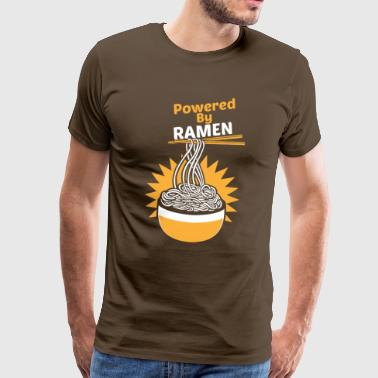 Powered By RAMEN Funny Funny asiatisk nudelsuppe - Herre premium T-shirt