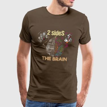 Sides of the Brain scientifically artistic - Men's Premium T-Shirt