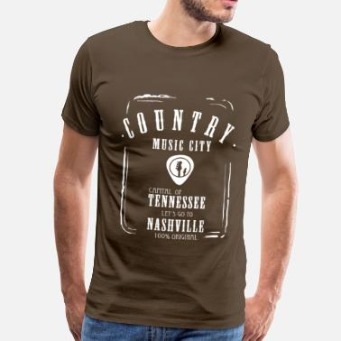 Country Music country music label Tennessee linedance Western - Men's Premium T-Shirt