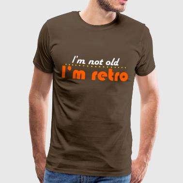 not old but retro T-Shirts - Premium-T-shirt herr