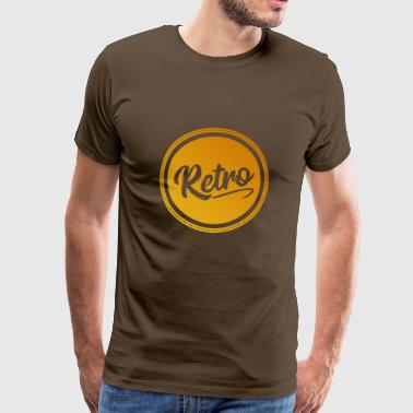 Retro - Old School Vintage Motif - Men's Premium T-Shirt