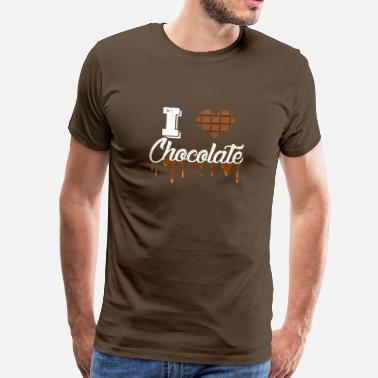 I Love Cycling I Love Chocolate - Men's Premium T-Shirt