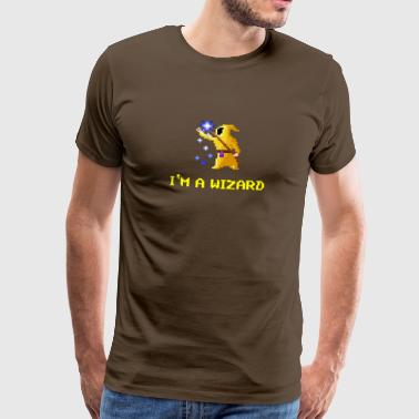 I ma wizard magician yellow - Men's Premium T-Shirt