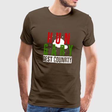 Hungary best country - Men's Premium T-Shirt