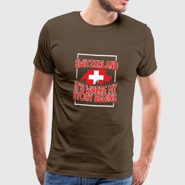 Switzerland it's where my story begins - Men's Premium T-Shirt