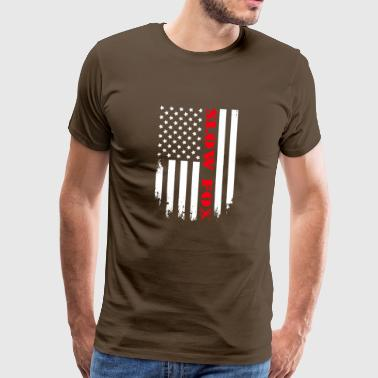 Patriotisk Slow Fox Player - Flagga - Premium-T-shirt herr
