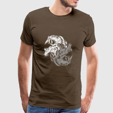 Natural Science Yin Yang Wolf - Men's Premium T-Shirt