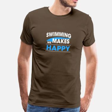 Happy SWIMMING - Men's Premium T-Shirt