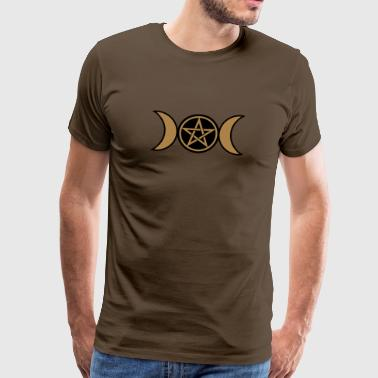 Lune Wicca Pentacle, Pentagramme- lune triple Wicca, amulette - T-shirt Premium Homme