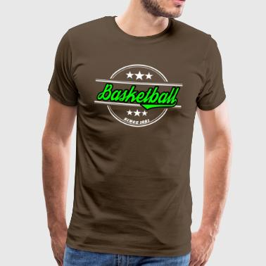 Basketball neon green - Men's Premium T-Shirt
