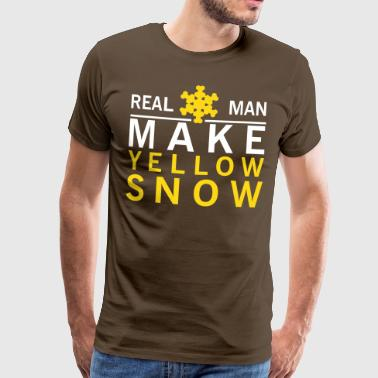 Real man make yellow snow - Männer Premium T-Shirt