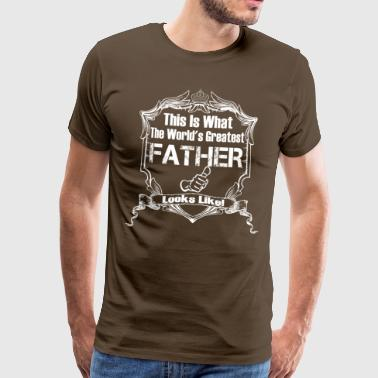 Worlds Greatest Grandad Worlds Greatest Father Looks Like - Men's Premium T-Shirt