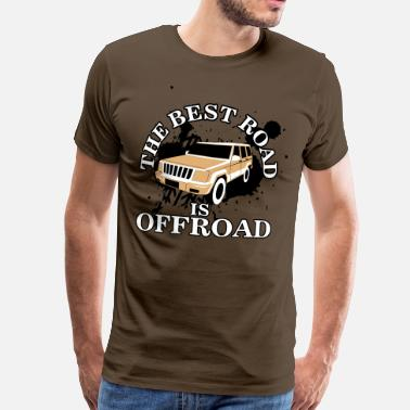 Autocross The best road is offroad - Herre premium T-shirt