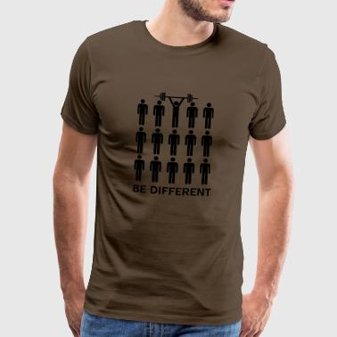 Be Different - Lift Heavy Shit - Mannen Premium T-shirt