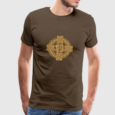 Celtic Cross Celtic cross irish scottish - Men's Premium T-Shirt