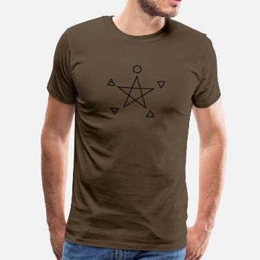 Emo Symbolen Pentagram, elements, spirit, magic symbol - Mannen Premium T-shirt
