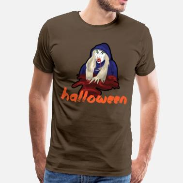 Dekselse Kerel Halloween monster bloed horror cadeau eng idee - Mannen Premium T-shirt
