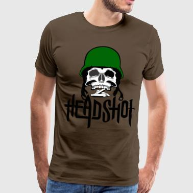 Soldier, army, skull, metal, skull, - Men's Premium T-Shirt