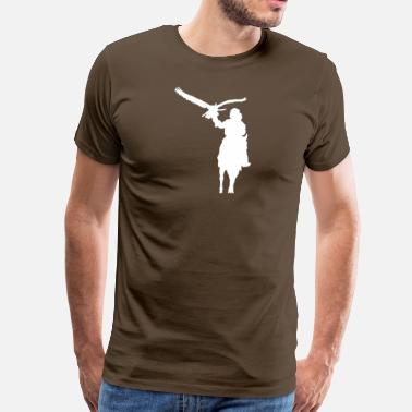 Golden Eagle Hunter with golden eagles - Men's Premium T-Shirt