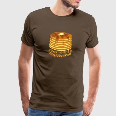 Flat-Earth Multiverse - Mannen Premium T-shirt